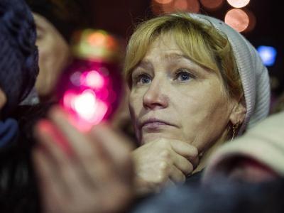 Hoffen auf eine bessere Zukunft: Die Ukraine ist extrem verschuldet und ein Zankapfel zwischen dem Westen und Russland. Foto: Alexey Furman