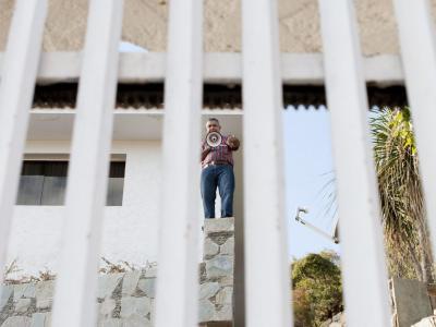 Bei der Ankunft der Regierungstruppen verteidigte Vivas sich vom Dach aus. Foto: Santi Donaire