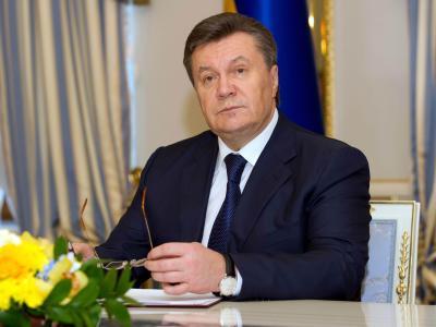 Kurz vor seiner Entmachtung: Viktor Janukowitsch im Präsidentenpalast in Kiew. Foto: Tim Brakemeier