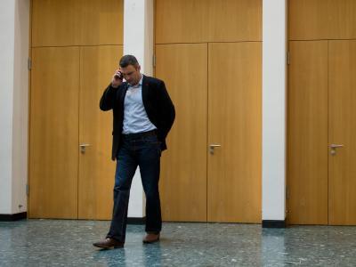 Vitali Klitschko hat seine Präsidentschaftskandidatur bei der Wahl am 25. Mai bekräftigt. Foto: Tim Brakemeier