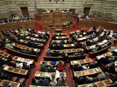 Das griechische Parlament prüft Reparationsforderungen aus dem Zweiten Weltkrieg an Berlin. Foto: Simela Pantzartzi/Archiv