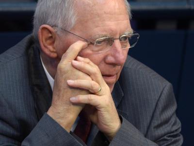 Bundesfinanzminister Wolfgang Schäuble während einer Sitzung des Bundestags in Berlin. Foto: Rainer Jensen