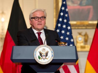 Bundesaußenminister Frank-Walter Steinmeier im US-Außenministerium in Washington. Foto: Arno Burgi
