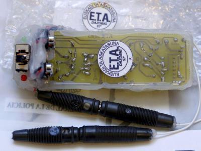 Eine Haftmine der baskischen Terrororganisation ETA. Foto: Jesus Diges/Archiv