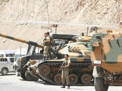 Türkisch-syrische Grenze: Die Dschihadisten-Miliz ISIS zieht sich offenbar aus dem Gebiet zurück. Foto: Ana/Archiv