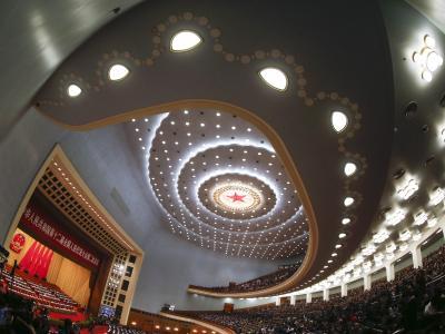 Die Große Halle des Volkes, in der der chinesische Volkskongress abgehalten wird. Foto: Diego Azubel