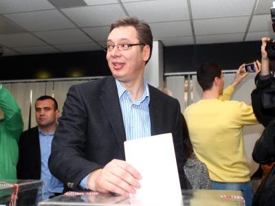 Aleksandar Vucic hat in Serbien die absolute Mehrheit erreicht. Foto: Koca Sulejmanovic