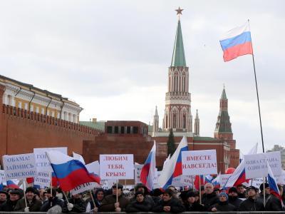 Party auf dem Roten Platz