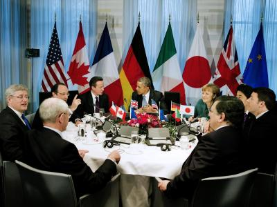 Die westlichen Industriemächte bestrafen Putin wegen der Annexion der Krim. Jerry Lampen / Pool Foto: Jerry Lampen / Pool