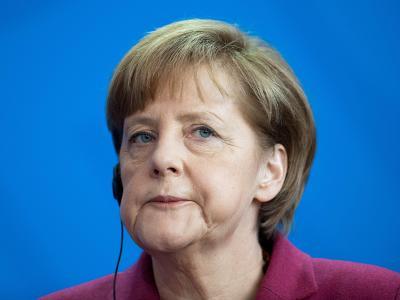Kanzlerin Angela Merkel am Donnerstag während einer Presskonferenz im Kanzleramt. Foto: Maurizio Gambarini