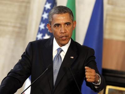 US-Präsident Obama am Donnerstag während seines Besuchs inItalien.Foto: Giuseppe Lami