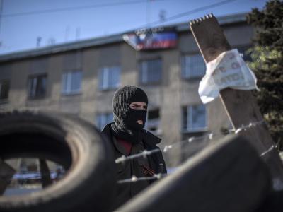 Barrikade in Horliwka
