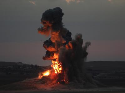 Luftschlag auf Kobane