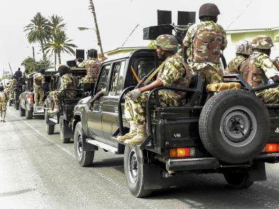 Nigerianische Soldaten