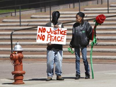 Demonstranten in Cleveland