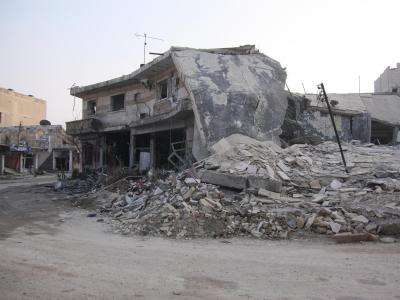 Zerst�rte H�user in Kobane