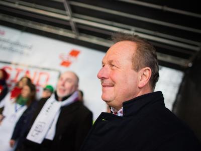 Frank Bsirske: «Wir erwarten jetzt konkrete Ergebnisse!» Foto: Rolf Vennenbernd