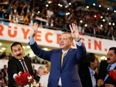 Machtmensch Erdogan:Der türkische Präsident ist ein Jahr nach dem Putschversuch auf dem Gipfel seiner Macht. Foto: Burhan Ozbilici