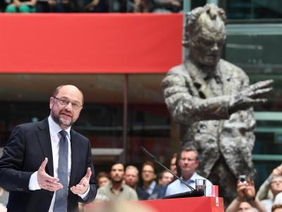 SPD-Kanzlerkandidat Martin Schulz bei der Präsentation seines Zukunftsplans für ein