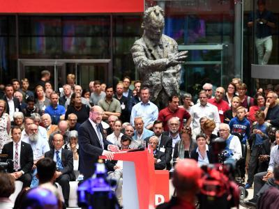 SPD-Kanzlerkandidat Martin Schulz bei der Präsentation seines Zukunftsplans: