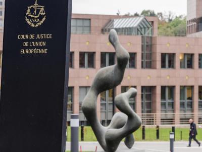 Geländes vom Gerichtshof der Europäischen Union (EuGH) in Luxemburg. Foto: Geert Vanden Wijngaert/Illustration