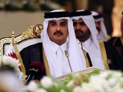 Katars Emir Scheich Tamim bin Hamad Al-Thani im Golf-Kooperationsrat:Die Golfstaaten haben die Beziehungen zu Katar abgebrochen. Foto: Osama Faisal