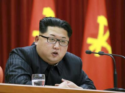 Der nordkoreanische Machthaber Kim Jong Un auf einer Veranstaltung des Zentralkomitees der Arbeiterpartei. Foto: Rodong Sinmun/YONHAP/RODONG SINMUN/Archiv