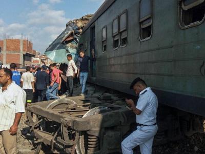 Unfallstelle in Alexandria: Bei dem Unfall gab es viele Tote und zahlreiche Verletzte. Foto: Hazem Gouda