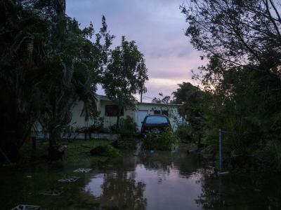 Bonita Springs liegt noch knapp in der Zone, in der die Behörden die Evakuierung verpflichtend angeordnet haben. Foto:Nicole Raucheisen