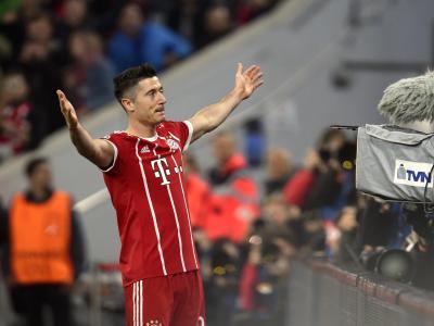 Robert Lewandowski brachte die Bayern mit dem 1:0 auf die Siegerstraße. Foto: Andreas Gebert