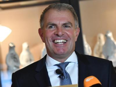 Er hat gut lachen:Lufthansa-Chef Carsten Spohr. Foto:Paul Zinken
