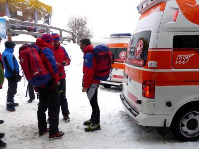 Rettungskräfte in St. Valentin in Südtirol. Foto: Walter Wegmann