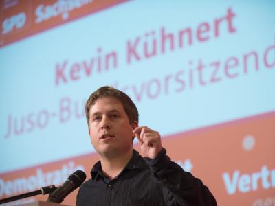 Juso-Bundeschef Kevin Kühnert - ein entschiedener Gegner einer großen Koalition - forderte, die Partei müsse ehrlich bewerten, was in den Sondierungen erreicht worden sei und was nicht. Foto:Klaus-Dietmar Gabbert