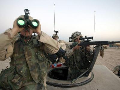 US-Soldaten der 1. Kavaleriedivision vom Stützpunkt Fort Hood in Texas bei einem Einsatz in Sadr City in Bagdad (Archivbild).
