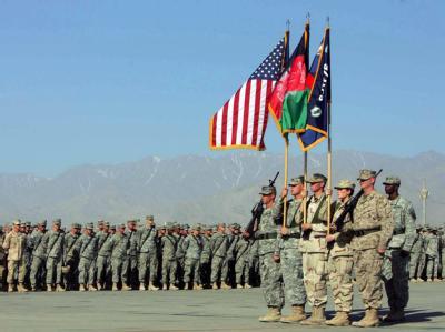 US-Soldaten auf dem Militärstützpunkt in Bagram nahe Kabul. Eine Truppenaufstockung in Afghanistan steht bevor. (Archivfoto)