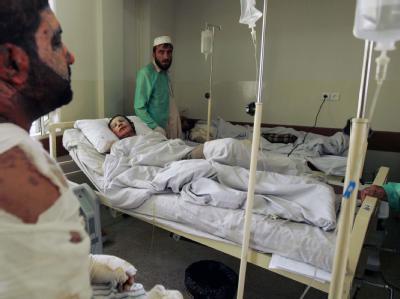 Verletzte in Kabuler Krankenhaus