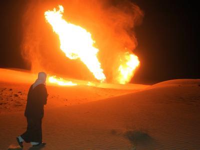 Pipeline-Brand auf der Sinai-Halbinsel