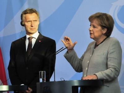 Angela Merkel und Jens Stoltenberg