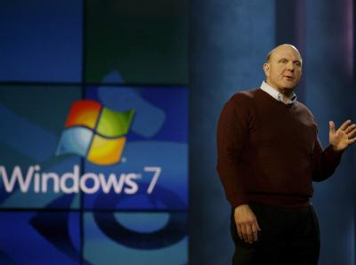 Microsoft-Chef Steve Ballmer will mit Windows 7 die Schlappe mit Vorgänger Vista ausgleichen.