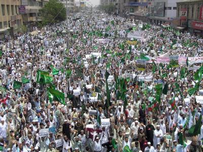 Demonstration in Karachi