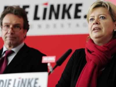 Die designierten Linke-Vorsitzenden Gesine Lötzsch und Klaus Ernst.