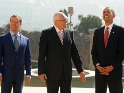 Medwedew, Klaus und Obama