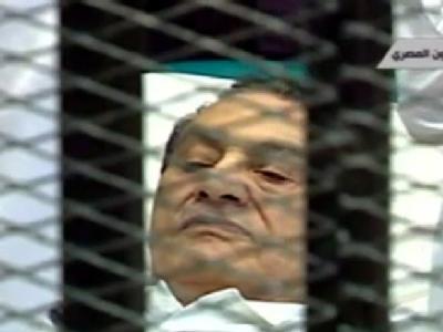 Gegen den früheren Präsidenten von Ägypten, Husni Mubarak, wird das Gerichtsurteil verkündet. Ihm werden Gewalt gegen Demonstranten und Korruption vorgeworfen. Foto: Al Arabiya