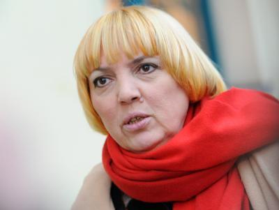 Die Bundesvorsitzende von Bündnis 90/Die Grünen, Claudia Roth.