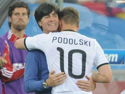 Bundestrainer Löw war zufrieden mit seiner Mannschaft.