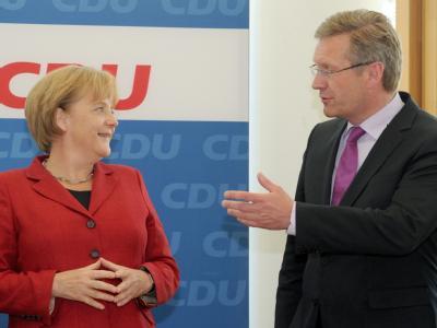 Für Kanzlerin Merkel wäre eine Wahl Wulffs erst im dritten Wahlgang ein tiefer Kratzer: Sie hat ihn auserkoren.