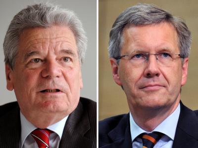 Joachim Gauck (l) ist Kandidat von SPD und Grünen, Christian Wulff wurde von Union und FDP aufgestellt.