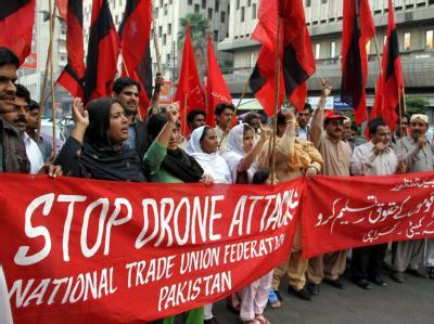 Protest gegen Drohnen-Einsätze