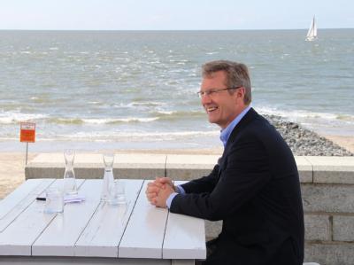 Bundespräsident Christian Wulff auf Norderney. Foto:Eilbertus Stürenburg/Archiv