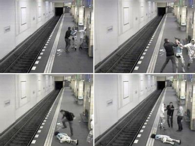 Brutaler Angriff auf Bahnhof